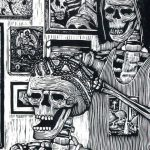 woodblock print by Julio Cesar Pena