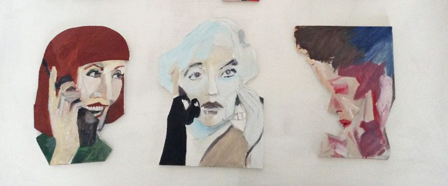 Shaped paintings by Ellie Young