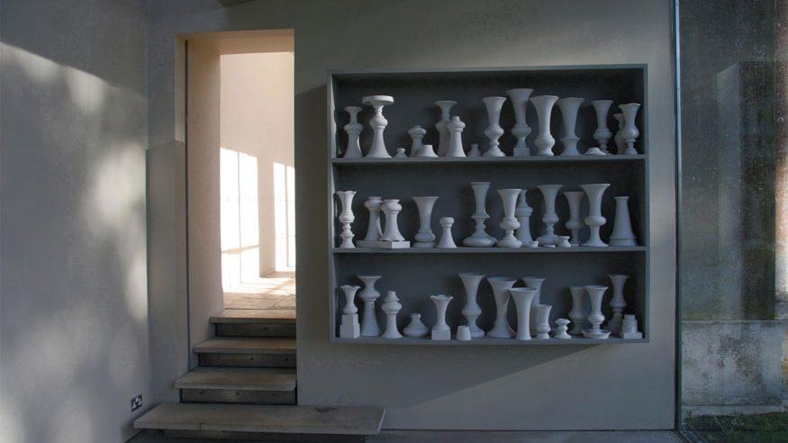 installation shot of sculpture by Cecile Johnson Soliz