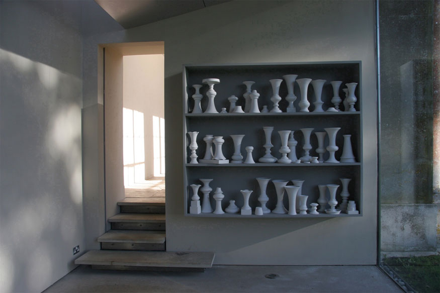 installation shot of sculpture by Cecile Johnson Soliz