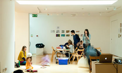 Art related activities for children at BayArt Gallery, Cardiff