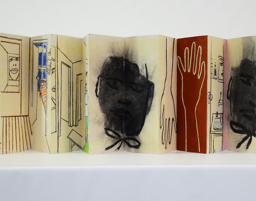 Chinese folding book by Robin Wallace-Crabbe
